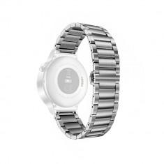 Curea metalica argintie pentru Huawei Watch W2 Sport / Samsung Gear S2 / Moto 2nd gen 42mm / Galaxy Watch 42mm cu prindere tip fluture CellPro Secure