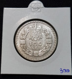 Moneda argint 100 Lei 1932 Carol II , monetaria Londra
