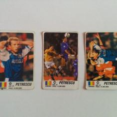 Lot 3 cartonașe fotbal - EURO 2000 - Dan Petrescu (jucător de fotbal - România)