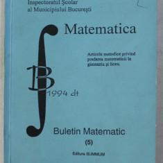 BULETIN MATEMATIC (5) , 1994