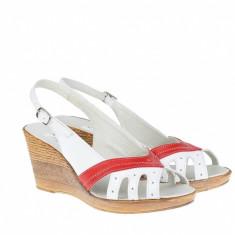 Sandale dama din piele naturala cu platforme de 7 cm - S88AR