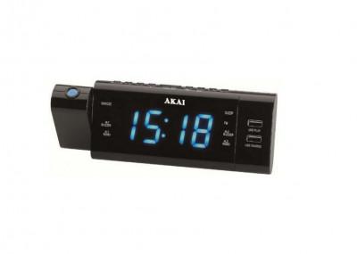 Radio cu ceas Akai ACR-3888 Proiector Negru foto