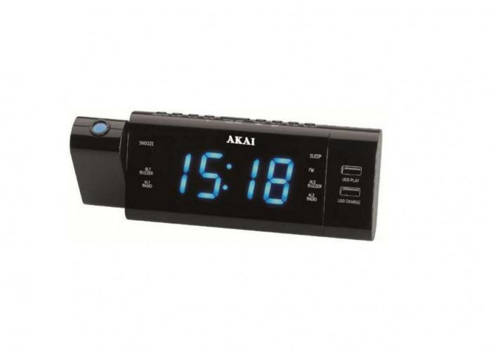 Radio cu ceas Akai ACR-3888 Proiector Negru