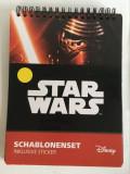 Lot Star Wars, caiet cu sabloane si stickere, si stickere suplimentare