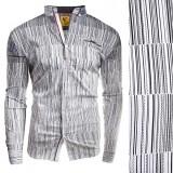 Camasa pentru barbati flex fit negru casual cu guler sedna matrix