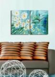 Ceas decorativ de perete Clock Art, 2 Piese, 228CLA2646, Multicolor