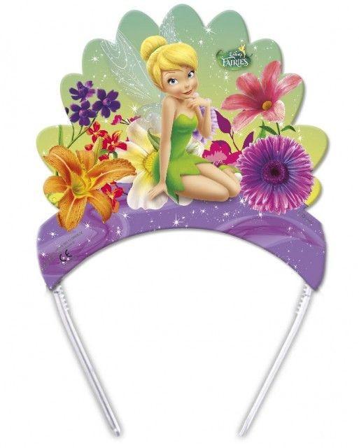 Coronite Tiara cu zane Fairies Magic set 6 buc