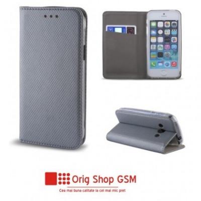 "Husa Flip Carte Smart Universal 4,7"" - 5,3"" inch Gri foto"