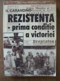 N. CARANDINO - REZISTENTA- PRIMA CONDITIE A VICTORIEI