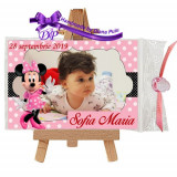Marturii botez magneti Handmade by Diana Puiu Minnie Mouse MDFM 3