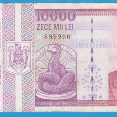 (2) BANCNOTA ROMANIA - 10.000 LEI 1994 (FEBRUARIE), PORTRET NICOLAE IORGA