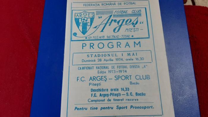 program FC Arges - SC Bacau