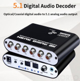Decodor Convertor audio digital la analog decoder 5.1  & 2.1 pt home cinema