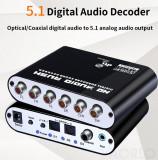 Decodor Convertor audio digital la analog decoder 5.1 & 2.1 pt home cinema