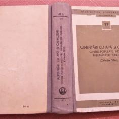 Alimentari Cu Apa Si Canalizari. Centre populate, industrii (Colectie STAS)-1972, Alta editura