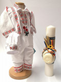 Cumpara ieftin Set Costum National pentru baieti Raul 5: lumanare si costumas