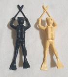 Lot x 2 piese - Jucarie din plastic - Figurina SCAFANDRU - Cleste # 2