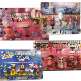 4 x Set figurine (Frozen, Vampirina, Micky Mouse Club House, LOL)