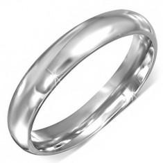 Inel argintiu din oțel chirurgical cu suprafață netedă - Marime inel: 68