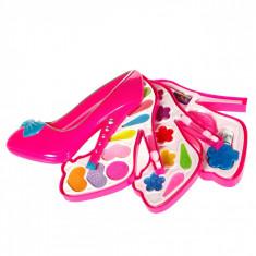 Trusa de machiaj pentru fetite, model pantof, 30x27x6 cm