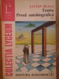 Teatru Proza Autobiografica Vol Ii 139 - Lucian Blaga ,304640