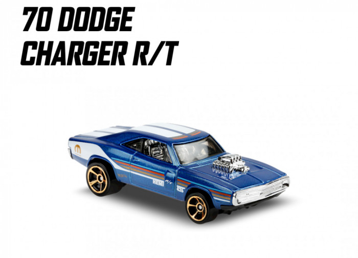 '70 dodge charger r/t hot wheels 5/10 muscle mania 2020
