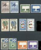 EUROPA CEPT 1957 - emisiunile Franta, Olanda, Belgia, Italia, Germania, Saarland, Nestampilat