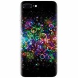 Husa silicon pentru Apple Iphone 7 Plus, Rainbow Colored Soap Bubbles