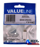Adaptor USB lightning tata micro USB mama, alb, Valueline