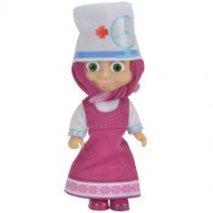 Papusa Masha 12 cm, Masha in Costum de Doctor