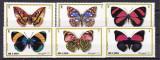 Umm  al qiwain  1972  fauna  fluturi  MI   623-628  MNH  w65, Nestampilat