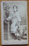 Foto Mandy pe carton , Bucuresti , costum popular , secol 19 , 5
