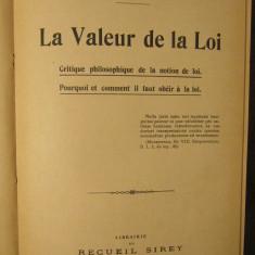 LA VALEUR DE LA LOI-C.RENARD