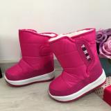Cizme roz imblanite impermeabile de zapada pt fete copii 24 25 26