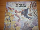 RAPSODII DE TOAMNA - G. TOPARCEANU ( editia 1988, rara, ilustrata color )*
