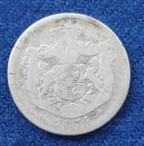 Moneda din argint  1 Leu 1874  Regele Carol Romania
