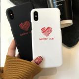 Husa telefon cu inimioare ?i mesaje inspirationale, potrivita pentru Iphone