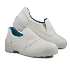 Pantofi microfibra Kolmax, marimea 46, alb