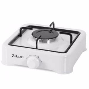 Aragaz Zilan, Alb, cu un ochi + 2m furtun gaz + 2 coliere + 1 x Ceas butelie