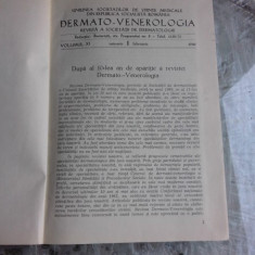 DERMATO-VENEROLOGIE REVISTA, VOLUMUL XI/1966