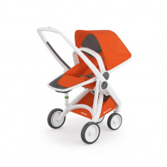 Carucior Greentom Reversible 100% Ecologic White Orange