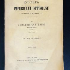 Dimitrie Cantemir - Istoria Imperiului Otoman, 1876, vol. 1, file netaiate