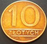 Moneda 10 ZLOTI - POLONIA, anul 1990   *cod 3891