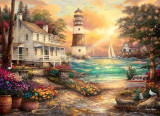 Puzzle Anatolian - Chuck Pinson: Cottage by the sea 1000 piese