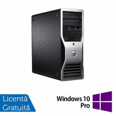 Workstation Dell Precision T3500, Xeon Quad Core W3520 2.66GHz - 2.93GHz, 6GB DDR3, HDD 500GB SATA, DVD-ROM, AMD Radeon HD 7350 1GB GDDR3 + Windows 10