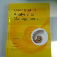 QUANTITATIVE ANALYSIS FOR MANAGEMENT - BONINI (ANALIZA CANTITATIVA PENTRU MANAGEMENT)