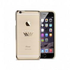 Husa Capac Astrum CROWN Apple iPhone 6/6s Plus Gold Swarovski, iPhone 6 Plus, Plastic, Carcasa