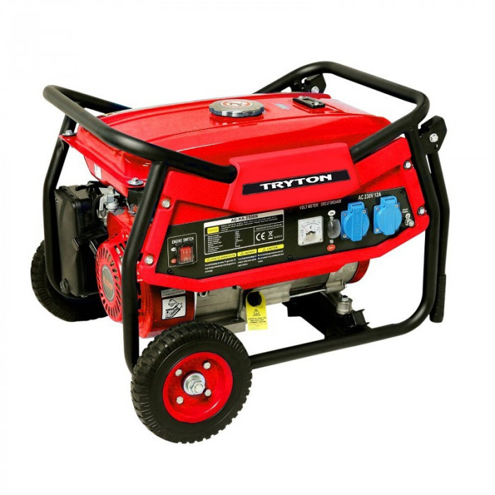 Generator electric Tryton, 12/230 V, 2 KW, 15 l, manere si roti transport