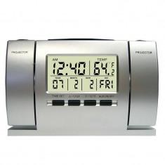 Ceas cu proiectie ora si temperatura DS-503, alarma