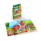 Mini Puzzle cu doua fete Noriel - La tara, la oras, 24 piese